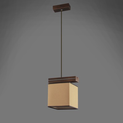 Namat BARSA/5 1263/5 потолочный светильникОдиночные<br><br><br>Крепление: Потолочное<br>Тип цоколя: E27<br>Цвет арматуры: Коричневый<br>Количество ламп: 1<br>Длина, мм: 200<br>Высота, мм: 600<br>MAX мощность ламп, Вт: 60