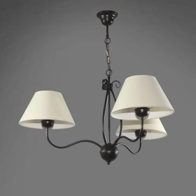 Namat ERAMIS 1287/1 потолочный светильниксовременные подвесные люстры модерн<br><br><br>S освещ. до, м2: 9<br>Крепление: Потолочное<br>Тип лампы: накаливания / энергосбережения / LED-светодиодная<br>Тип цоколя: E27<br>Цвет арматуры: Черный<br>Количество ламп: 3<br>Диаметр, мм мм: 700<br>Высота, мм: 600<br>MAX мощность ламп, Вт: 60