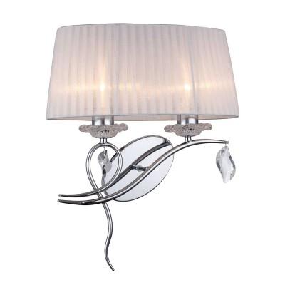Omnilux OML-61901-02 СветильникКлассические<br><br><br>Тип лампы: Накаливания / энергосбережения / светодиодная<br>Тип цоколя: E27<br>Количество ламп: 2<br>Ширина, мм: 400<br>Расстояние от стены, мм: 250<br>Высота, мм: 490<br>MAX мощность ламп, Вт: 40