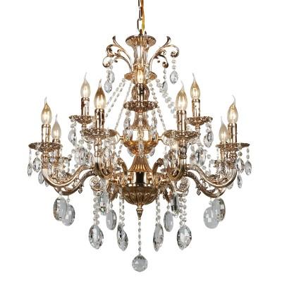 Omnilux OML-78903-12 Светильниклюстры подвесные классические<br><br><br>Установка на натяжной потолок: Да<br>S освещ. до, м2: 36<br>Тип лампы: Накаливания / энергосбережения / светодиодная<br>Тип цоколя: E14<br>Количество ламп: 12<br>Диаметр, мм мм: 760<br>Высота, мм: 950 - 1250<br>MAX мощность ламп, Вт: 60
