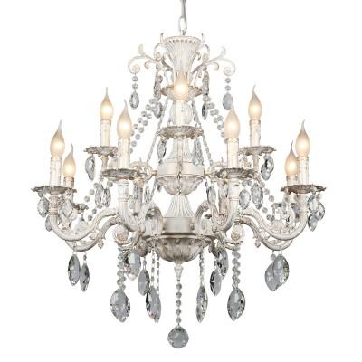 Omnilux OML-79003-12 СветильникПодвесные<br><br><br>Установка на натяжной потолок: Да<br>S освещ. до, м2: 36<br>Тип лампы: Накаливания / энергосбережения / светодиодная<br>Тип цоколя: E14<br>Количество ламп: 12<br>Диаметр, мм мм: 760<br>Высота, мм: 950 - 1250<br>MAX мощность ламп, Вт: 60