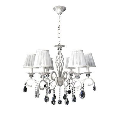Omnilux OML-79103-06 СветильникПодвесные<br><br><br>Установка на натяжной потолок: Да<br>S освещ. до, м2: 12<br>Тип лампы: Накаливания / энергосбережения / светодиодная<br>Тип цоколя: E14<br>Количество ламп: 6<br>Диаметр, мм мм: 650<br>Высота, мм: 560 - 930<br>MAX мощность ламп, Вт: 40