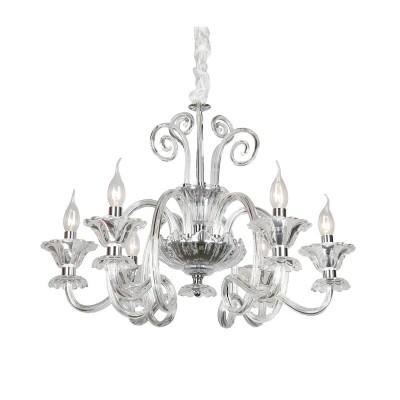 Omnilux OML-79503-06 Светильниклюстры подвесные классические<br><br><br>Установка на натяжной потолок: Да<br>S освещ. до, м2: 12<br>Тип лампы: Накаливания / энергосбережения / светодиодная<br>Тип цоколя: E14<br>Количество ламп: 6<br>Диаметр, мм мм: 650<br>Высота, мм: 700 - 1600<br>MAX мощность ламп, Вт: 40