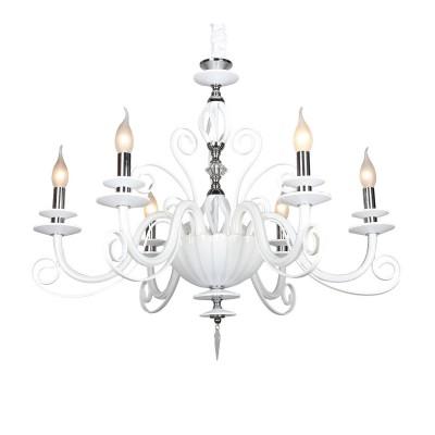 Omnilux OML-79603-06 Светильниклюстры подвесные классические<br><br><br>Установка на натяжной потолок: Да<br>S освещ. до, м2: 12<br>Тип лампы: Накаливания / энергосбережения / светодиодная<br>Тип цоколя: E14<br>Количество ламп: 6<br>Диаметр, мм мм: 780<br>Высота, мм: 800 - 1700<br>MAX мощность ламп, Вт: 40