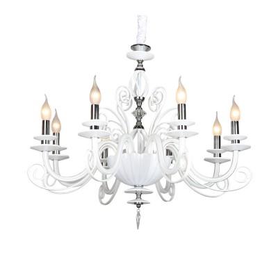 Omnilux OML-79603-08 СветильникПодвесные<br><br><br>Установка на натяжной потолок: Да<br>S освещ. до, м2: 16<br>Тип лампы: Накаливания / энергосбережения / светодиодная<br>Тип цоколя: E14<br>Количество ламп: 8<br>Диаметр, мм мм: 780<br>Высота, мм: 800 - 1700<br>MAX мощность ламп, Вт: 40