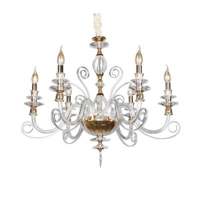 Omnilux OML-79613-06 Светильниклюстры подвесные классические<br><br><br>Установка на натяжной потолок: Да<br>S освещ. до, м2: 12<br>Тип лампы: Накаливания / энергосбережения / светодиодная<br>Тип цоколя: E14<br>Количество ламп: 6<br>Диаметр, мм мм: 780<br>Высота, мм: 800 - 1700<br>MAX мощность ламп, Вт: 40