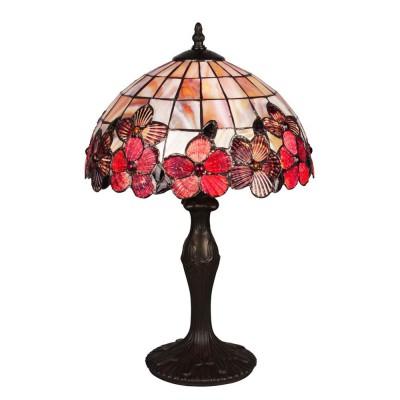 Omnilux Heartsease OML-80604-01 Лампа настольнаяНастольные лампы тиффани<br><br><br>Тип лампы: накал-я - энергосбер-я<br>Тип цоколя: E27<br>Количество ламп: 1<br>Диаметр, мм мм: 300<br>Размеры: D 300 H 500<br>Высота, мм: 500<br>MAX мощность ламп, Вт: 60