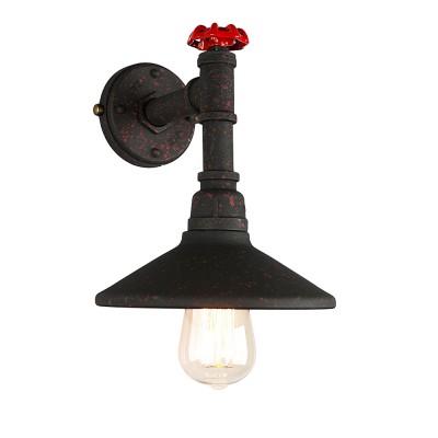 Omnilux OML-90501-01 Светильникбра в стиле лофт<br><br><br>Тип лампы: Накаливания / энергосбережения / светодиодная<br>Тип цоколя: E27<br>Количество ламп: 1<br>Ширина, мм: 200<br>Расстояние от стены, мм: 220<br>Высота, мм: 300<br>MAX мощность ламп, Вт: 60