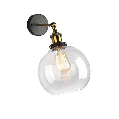Omnilux OML-90701-01 Светильникбра в стиле лофт<br><br><br>Тип лампы: Накаливания / энергосбережения / светодиодная<br>Тип цоколя: E27<br>Количество ламп: 1<br>Ширина, мм: 200<br>Расстояние от стены, мм: 250<br>Высота, мм: 350<br>MAX мощность ламп, Вт: 60