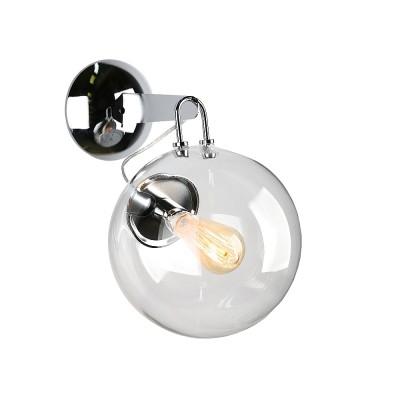 Omnilux OML-91401-01 СветильникЛофт<br><br><br>Тип лампы: Накаливания / энергосбережения / светодиодная<br>Тип цоколя: E27<br>Количество ламп: 1<br>Ширина, мм: 250<br>Расстояние от стены, мм: 330<br>Высота, мм: 350<br>MAX мощность ламп, Вт: 60