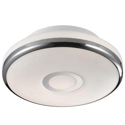 Светильник Odeon light 2401/1CКруглые<br>Компактный настенно-потолочный светильник Odeon light 2401/1C станет прекрасным дополнением и завершающим «штрихом» при оформлении интерьера в «минималистичном» стиле. Площадь освещения составляет 4 кв.м., поэтому наиболее оптимально использовать этот источник света в качестве дополнительной подсветки определенной зоны комнаты. Светлые оттенки хорошо сочетаются с любой цветовой гаммой, а «цельный» плафон без «утяжеляющих» декоративных элементов легко очистить от пыли – достаточно протереть его влажной салфеткой.<br><br>S освещ. до, м2: 4<br>Крепление: потолочное<br>Тип лампы: накаливания / энергосбережения / LED-светодиодная<br>Тип цоколя: E27<br>Цвет арматуры: серебристый<br>Количество ламп: 1<br>Диаметр, мм мм: 230<br>Высота, мм: 90<br>Оттенок (цвет): белый<br>MAX мощность ламп, Вт: 60