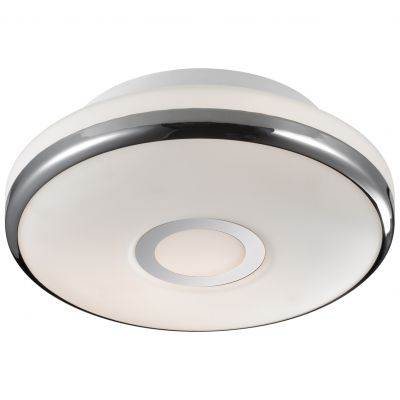 Светильник Odeon light 2401/3CКруглые<br>Универсальная круглая форма настенно-потолочного светильника Odeon light 2401/3C позволяет ему легко вписаться в интерьер любой по функциональному назначению комнаты – от гостиной до спальни и кухни. Светлый оттенок плафона и отсутствие «утяжеляющих» декоративных элементов создают ощущение «легкости» конструкции и зрительно увеличивает высоту потолка. Наиболее «выигрышно» и эффектно светильник будет смотреться в интерьере в стиле «модерн», в сочетании с современной мебелью и вещами из металла и стекла.<br><br>S освещ. до, м2: 8<br>Крепление: потолочное<br>Тип лампы: накаливания / энергосбережения / LED-светодиодная<br>Тип цоколя: E27<br>Количество ламп: 3<br>MAX мощность ламп, Вт: 40<br>Диаметр, мм мм: 380<br>Высота, мм: 115<br>Оттенок (цвет): белый<br>Цвет арматуры: серебристый