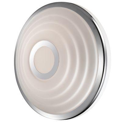 Светильник Odeon light 2402/1CКруглые<br>Итальянский настенно-потолочный светильник Odeon light 2402/1C придется по вкусу всем ценителям современных стилей оформления интерьера. Универсальная круглая форма, сочетание «металлического» и белого оттенков, отсутствие «утяжеляющих» конструкцию декоративных деталей, делают этот осветительный прибор подходящим в любую по функциональному назначению комнату и во все существующие цветовые гаммы. Площадь освещения составляет 5 кв.м., поэтому наиболее оптимально использовать светильник в качестве настенного бра, а чтобы интерьер выглядел «цельным» и гармоничным, рекомендуем Вам<br><br>S освещ. до, м2: 5<br>Крепление: настенное<br>Тип лампы: накаливания / энергосбережения / LED-светодиодная<br>Тип цоколя: E27<br>Количество ламп: 1<br>MAX мощность ламп, Вт: 75<br>Диаметр, мм мм: 245<br>Высота, мм: 100<br>Оттенок (цвет): белый<br>Цвет арматуры: серебристый