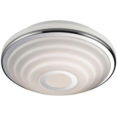 Светильник Odeon light 2402/2CКруглые<br>Итальянский светильник Odeon light 2402/2C придется по вкусу всем ценителям современных стилей оформления интерьера. Универсальная круглая форма, сочетание «металлического» и белого оттенков, отсутствие «утяжеляющих» конструкцию декоративных деталей, делают этот осветительный прибор подходящим в любую по функциональному назначению комнату и во все существующие цветовые гаммы. Наиболее оптимальным будет использовать светильник в качестве потолочного для небольшой по площади комнаты (до 8 кв.м.), добавив к нему несколько настенных бра из этой же серии, чтобы интерьер выглядел по-дизайнерский профессиональным и уютным.<br><br>S освещ. до, м2: 8<br>Крепление: потолочное<br>Тип товара: Светильник настенно-потолочный<br>Скидка, %: 39<br>Тип лампы: накаливания / энергосбережения / LED-светодиодная<br>Тип цоколя: E27<br>Количество ламп: 2<br>MAX мощность ламп, Вт: 60<br>Диаметр, мм мм: 312<br>Высота, мм: 115<br>Оттенок (цвет): белый<br>Цвет арматуры: серебристый