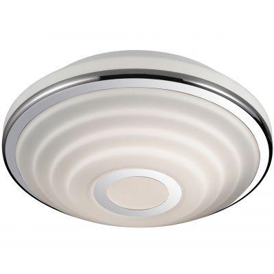 Светильник Odeon light 2402/3CКруглые<br>Потолочный светильник Odeon light 2402/3C идеально впишется в любой современный интерьер! Универсальная круглая форма гармонично сочетается с белым и «металлическим» оттенком, создавая эффектный образ, который украсит любую по функциональному назначению комнату – от спальни до гостиной. Благодаря «цельному» плафону, светильник легко очистить от загрязнений – достаточно протереть поверхность влажной салфеткой, поэтому его можно смело использовать даже на кухне. В комплекте с несколькими настенными бра из этой же серии, он создаст уютную атмосферу и придаст интерьеру законченный и совершенный вид.<br><br>S освещ. до, м2: 12<br>Крепление: потолочное<br>Тип лампы: накаливания / энергосбережения / LED-светодиодная<br>Тип цоколя: E27<br>Количество ламп: 3<br>MAX мощность ламп, Вт: 60<br>Диаметр, мм мм: 402<br>Высота, мм: 140<br>Оттенок (цвет): белый<br>Цвет арматуры: серебристый