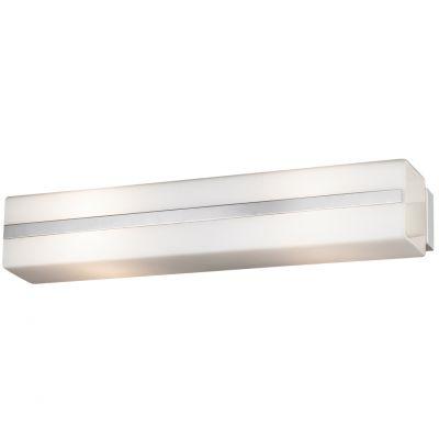 Светильник Odeon light 2404/2WДлинные<br>Настенно-потолочный светильник Odeon light 2404/2W предназначен для создания подсветки площади до 8 кв.м. Универсальная прямоугольная «вытянутая» форма и отсутствие декоративных элементов делают его очень удобным при монтаже и незаменимым при освещении поверхности рабочего стола на кухне, садовой рассады, зеркала, настенных полок с сувенирами и т.п. «Цельный» плафон легко очистить от загрязнений – достаточно протереть его влажной салфеткой.<br><br>S освещ. до, м2: 8<br>Крепление: настенное<br>Тип лампы: накаливания / энергосбережения / LED-светодиодная<br>Тип цоколя: E14<br>Количество ламп: 2<br>Ширина, мм: 304<br>MAX мощность ламп, Вт: 60<br>Расстояние от стены, мм: 78<br>Высота, мм: 60<br>Оттенок (цвет): белый<br>Цвет арматуры: серебристый