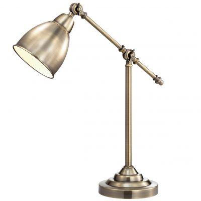 Настольная лампа Odeon light 2412/1TКлассические<br>Настольная лампа – это не просто источник дополнительного освещения, но и оригинальный элемент декора. Его можно установить в спальне, гостиной, кабинете и других комнатах. Интернет-магазин «Светодом» предлагает настольные лампы разных стилей по доступным ценам. Благодаря большому ассортименту Вы обязательно найдете в нашем каталоге именно ту модель, которую искали. <br> Настольная лампа Odeon light 2412/1T  – прекрасный вариант для завершения интерьера. Ее можно включить одновременно с люстрой для более яркого освещения или без нее для создания уютной атмосферы, настраивающей на отдых. <br> Купить настольную лампу Odeon light 2412/1T  Вы можете с помощью виртуальной «Корзины» или по контактным номерам, указанным на сайте.<br><br>S освещ. до, м2: 4<br>Тип лампы: накал-я - энергосбер-я<br>Тип цоколя: E27<br>Цвет арматуры: бронзовый<br>Количество ламп: 1<br>Ширина, мм: 175<br>Высота, мм: 450<br>MAX мощность ламп, Вт: 60