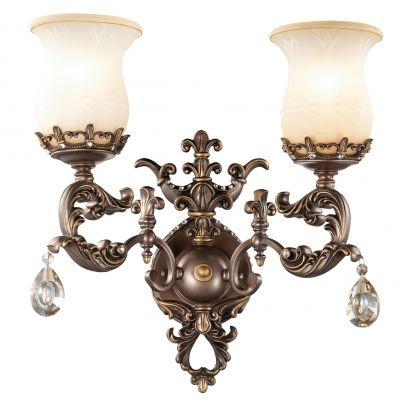 Светильник Odeon light 2430/2WРустика<br><br><br>S освещ. до, м2: 8<br>Крепление: настенное<br>Тип лампы: накаливания / энергосбережения / LED-светодиодная<br>Тип цоколя: E27<br>Количество ламп: 2<br>Ширина, мм: 345<br>MAX мощность ламп, Вт: 60<br>Высота, мм: 450<br>Оттенок (цвет): бежевый<br>Цвет арматуры: бронзовый