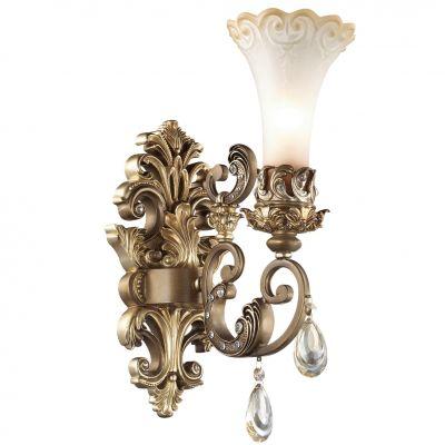 Светильник Odeon light 2431/1WРустика<br><br><br>S освещ. до, м2: 4<br>Крепление: настенное<br>Тип товара: Светильник настенный бра<br>Тип лампы: накаливания / энергосбережения / LED-светодиодная<br>Тип цоколя: E14<br>Количество ламп: 1<br>Ширина, мм: 145<br>MAX мощность ламп, Вт: 60<br>Высота, мм: 420<br>Оттенок (цвет): бежевый<br>Цвет арматуры: бронзовый