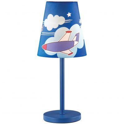Настольная лампа Odeon light 2440/1TДля детской<br>Настольная лампа – это не просто источник дополнительного освещения, но и оригинальный элемент декора. Его можно установить в спальне, гостиной, кабинете и других комнатах. Интернет-магазин «Светодом» предлагает настольные лампы разных стилей по доступным ценам. Благодаря большому ассортименту Вы обязательно найдете в нашем каталоге именно ту модель, которую искали.   Настольная лампа Odeon light 2440/1T  – прекрасный вариант для завершения интерьера. Ее можно включить одновременно с люстрой для более яркого освещения или без нее для создания уютной атмосферы, настраивающей на отдых.   Купить настольную лампу Odeon light 2440/1T  Вы можете с помощью виртуальной «Корзины» или по контактным номерам, указанным на сайте.<br><br>S освещ. до, м2: 4<br>Тип лампы: накал-я - энергосбер-я<br>Тип цоколя: E27<br>Цвет арматуры: синий<br>Количество ламп: 1<br>Диаметр, мм мм: 170<br>Высота, мм: 400<br>Оттенок (цвет): белый<br>MAX мощность ламп, Вт: 60