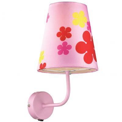 Светильник Odeon light 2441/1WДля детской<br><br><br>S освещ. до, м2: 4<br>Крепление: настенное<br>Тип лампы: накаливания / энергосбережения / LED-светодиодная<br>Тип цоколя: E27<br>Количество ламп: 1<br>Ширина, мм: 170<br>MAX мощность ламп, Вт: 60<br>Расстояние от стены, мм: 210<br>Высота, мм: 310<br>Оттенок (цвет): белый<br>Цвет арматуры: розовый