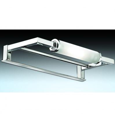 Светильник Odeon light 2449/1Для картин/зеркал<br><br><br>S освещ. до, м2: 6<br>Крепление: на зеркало<br>Тип лампы: галогенная / LED-светодиодная<br>Тип цоколя: R7s<br>Количество ламп: 1<br>Ширина, мм: 272<br>MAX мощность ламп, Вт: 100<br>Расстояние от стены, мм: 120<br>Высота, мм: 38<br>Оттенок (цвет): белый<br>Цвет арматуры: серебристый