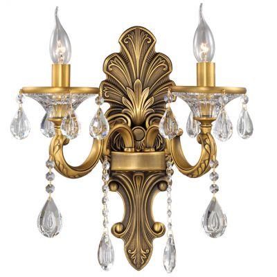 Светильник Odeon light 2454/2WХрустальные<br>Великолепное бра Odeon light 2454/2W является гордостью целой итальянской коллекции хрустальных светильников. Отдельным преимуществом является возможность использования данного шедевра и вне уже созданного мастерами тандема. Настенное бра Odeon light 2454/2W очень изысканно и уникально! Оно выполнено в форме элегантного канделябра, исполненного в оттенке состаренного золота. Настоящая классика престижа перед Вашими глазами! Безупречный шик и благородство каждой линии принадлежат шедевру света Odeon light 2454/2W. Когда речь идёт о создании дополнительных зон уединения, настенное бра особенно актуально. А благодаря Odeon light 2454/2W Вам просто гарантирована эстетика шика.<br><br>S освещ. до, м2: 8<br>Крепление: настенное<br>Тип лампы: накаливания / энергосбережения / LED-светодиодная<br>Тип цоколя: E14<br>Количество ламп: 2<br>Ширина, мм: 380<br>MAX мощность ламп, Вт: 60<br>Высота, мм: 410<br>Оттенок (цвет): белый<br>Цвет арматуры: золотой