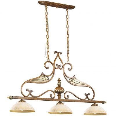 Люстра Odeon light 2455/3AПодвесные<br><br><br>Установка на натяжной потолок: Да<br>S освещ. до, м2: 8<br>Крепление: Планка<br>Тип товара: Люстра подвесная<br>Тип лампы: накаливания / энергосбережения / LED-светодиодная<br>Тип цоколя: E27<br>Количество ламп: 3<br>Ширина, мм: 700<br>MAX мощность ламп, Вт: 60<br>Высота, мм: 1340<br>Оттенок (цвет): бежевый<br>Цвет арматуры: коричневый