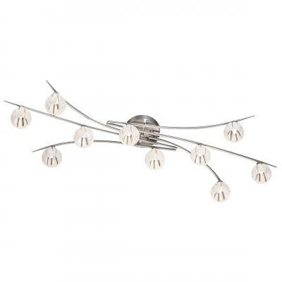Люстра Odeon light 2465/10CПотолочные<br><br><br>Установка на натяжной потолок: Да<br>S освещ. до, м2: 26<br>Крепление: Планка<br>Тип товара: Люстра<br>Тип лампы: галогенная / LED-светодиодная<br>Тип цоколя: G9<br>Количество ламп: 10<br>Ширина, мм: 350<br>MAX мощность ламп, Вт: 40<br>Длина, мм: 1050<br>Высота, мм: 350<br>Оттенок (цвет): белый<br>Цвет арматуры: серый