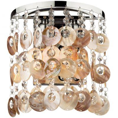 Светильник Odeon light 2488/2WСовременные<br><br><br>S освещ. до, м2: 5<br>Крепление: настенное<br>Тип лампы: накаливания / энергосбережения / LED-светодиодная<br>Тип цоколя: E14<br>Цвет арматуры: серебристый<br>Количество ламп: 2<br>Ширина, мм: 240<br>Высота, мм: 270<br>Оттенок (цвет): бежевый<br>MAX мощность ламп, Вт: 40
