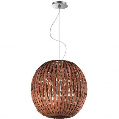 Люстра Odeon light 2491/3AИз ротанга и eco<br><br><br>Установка на натяжной потолок: Да<br>S освещ. до, м2: 12<br>Крепление: Планка<br>Тип товара: Люстра<br>Тип лампы: накаливания / энергосбережения / LED-светодиодная<br>Тип цоколя: E27<br>Количество ламп: 3<br>MAX мощность ламп, Вт: 60<br>Диаметр, мм мм: 400<br>Высота, мм: 1100<br>Оттенок (цвет): коричневый<br>Цвет арматуры: серый