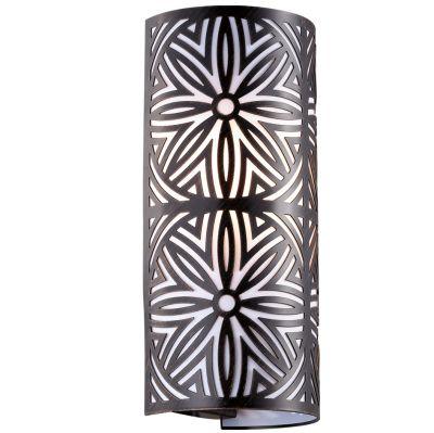 Светильник Odeon light 2501/2WФлористика<br><br><br>S освещ. до, м2: 5<br>Крепление: настенное<br>Тип лампы: накаливания / энергосбережения / LED-светодиодная<br>Тип цоколя: E14<br>Количество ламп: 2<br>Ширина, мм: 150<br>MAX мощность ламп, Вт: 40<br>Высота, мм: 320<br>Оттенок (цвет): белый<br>Цвет арматуры: коричневый