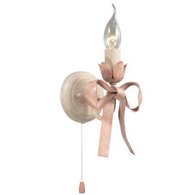 Светильник Odeon light 2527/1WФлористика<br><br><br>S освещ. до, м2: 2<br>Крепление: настенное<br>Тип лампы: накаливания / энергосбережения / LED-светодиодная<br>Тип цоколя: E14<br>Количество ламп: 1<br>Ширина, мм: 120<br>MAX мощность ламп, Вт: 40<br>Высота, мм: 210<br>Оттенок (цвет): белый<br>Цвет арматуры: бежевый