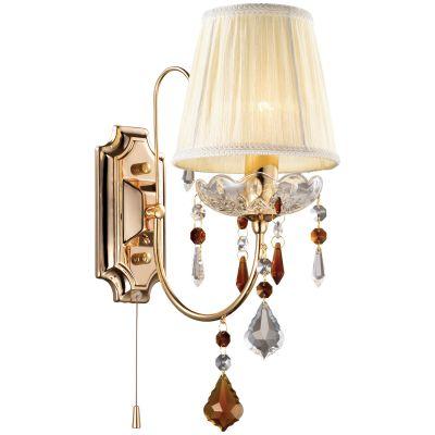Светильник Odeon light 2534/1W ADELIСовременные<br><br><br>S освещ. до, м2: 2<br>Крепление: настенное<br>Тип лампы: накаливания / энергосбережения / LED-светодиодная<br>Тип цоколя: E14<br>Количество ламп: 1<br>MAX мощность ламп, Вт: 40<br>Расстояние от стены, мм: 140<br>Высота, мм: 370<br>Оттенок (цвет): белый<br>Цвет арматуры: золотой