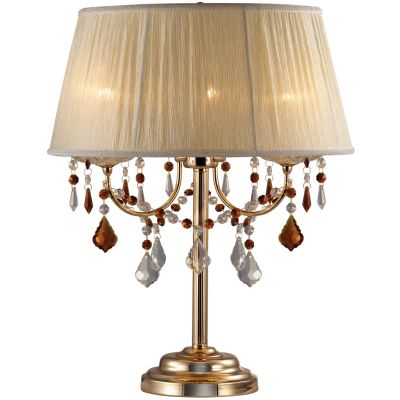 Настольная лампа Odeon light 2534/3TС абажуром<br>Настольная лампа – это не просто источник дополнительного освещения, но и оригинальный элемент декора. Его можно установить в спальне, гостиной, кабинете и других комнатах. Интернет-магазин «Светодом» предлагает настольные лампы разных стилей по доступным ценам. Благодаря большому ассортименту Вы обязательно найдете в нашем каталоге именно ту модель, которую искали.   Настольная лампа Odeon light 2534/3T  – прекрасный вариант для завершения интерьера. Ее можно включить одновременно с люстрой для более яркого освещения или без нее для создания уютной атмосферы, настраивающей на отдых.   Купить настольную лампу Odeon light 2534/3T  Вы можете с помощью виртуальной «Корзины» или по контактным номерам, указанным на сайте.<br><br>S освещ. до, м2: 8<br>Тип лампы: накал-я - энергосбер-я<br>Тип цоколя: E14<br>Количество ламп: 3<br>MAX мощность ламп, Вт: 40<br>Диаметр, мм мм: 420<br>Высота, мм: 530<br>Оттенок (цвет): белый<br>Цвет арматуры: золотой