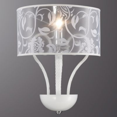 Светильник Odeon light 2536/1WСовременные<br><br><br>S освещ. до, м2: 2<br>Крепление: настенное<br>Тип лампы: накаливания / энергосбережения / LED-светодиодная<br>Тип цоколя: E14<br>Количество ламп: 1<br>Ширина, мм: 330<br>MAX мощность ламп, Вт: 40<br>Высота, мм: 560<br>Оттенок (цвет): белый<br>Цвет арматуры: серебристый