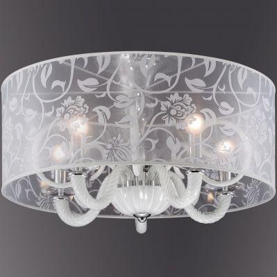 Люстра Odeon light 2536/5CПотолочные<br><br><br>Установка на натяжной потолок: Да<br>S освещ. до, м2: 13<br>Крепление: Планка<br>Тип товара: Люстра<br>Тип лампы: накаливания / энергосбережения / LED-светодиодная<br>Тип цоколя: E14<br>Количество ламп: 5<br>MAX мощность ламп, Вт: 40<br>Диаметр, мм мм: 600<br>Высота, мм: 400<br>Оттенок (цвет): белый<br>Цвет арматуры: серебристый