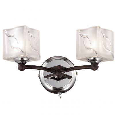 Светильник Odeon light 2538/2WМодерн<br><br><br>S освещ. до, м2: 5<br>Крепление: настенное<br>Тип лампы: галогенная / LED-светодиодная<br>Тип цоколя: G9<br>Количество ламп: 2<br>Ширина, мм: 225<br>MAX мощность ламп, Вт: 40<br>Высота, мм: 140<br>Оттенок (цвет): белый<br>Цвет арматуры: черный