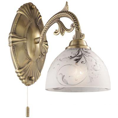 Светильник Odeon light 2542/1WФлористика<br><br><br>S освещ. до, м2: 2<br>Крепление: настенное<br>Тип лампы: накаливания / энергосбережения / LED-светодиодная<br>Тип цоколя: E27<br>Цвет арматуры: бронзовый<br>Количество ламп: 1<br>Ширина, мм: 150<br>Высота, мм: 260<br>Оттенок (цвет): белый<br>MAX мощность ламп, Вт: 40