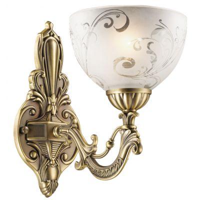 Светильник Odeon light 2563/1WКлассические<br>Изысканно рассеиваемый источник уютного света – это бра Odeon Light. Его изгибы бронзового сияния и красивые узоры на плафоне белоснежного цвета – украшение любого уголка интерьера.<br><br>S освещ. до, м2: 4<br>Крепление: настенное<br>Тип лампы: накаливания / энергосбережения / LED-светодиодная<br>Тип цоколя: E27<br>Количество ламп: 1<br>Ширина, мм: 150<br>MAX мощность ламп, Вт: 60<br>Расстояние от стены, мм: 250<br>Высота, мм: 250<br>Оттенок (цвет): белый<br>Цвет арматуры: бронзовый