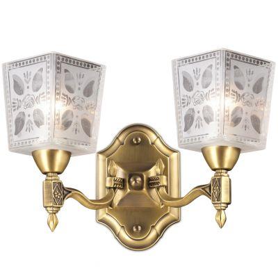 Светильник Odeon light 2564/2WКлассические<br>Яркий, «праздничный» и запоминающийся настенный светильник Odeon light 2564/2W идеально «завершит» световое оформление «классического» интерьера! «Благородное» сочетание яркого бронзового и белого оттенков, «растительный» рисунок и орнамент на плафонах, изящная конструкция создают великолепный, притягивающий восхищенные взгляды образ, который придаст комнате очарование и «шарм». Площадь освещения достигает 8 кв.м., поэтому бра можно легко использовать в качестве «полезной» подсветки – для чтения, рукодельных хобби и т.п. Чтобы интерьер выглядел по-дизайнерски профессиональным, «цельным» и уютным, рекомендуем<br><br>S освещ. до, м2: 8<br>Крепление: настенное<br>Тип лампы: накаливания / энергосбережения / LED-светодиодная<br>Тип цоколя: E14<br>Количество ламп: 2<br>Ширина, мм: 325<br>MAX мощность ламп, Вт: 60<br>Расстояние от стены, мм: 200<br>Высота, мм: 250<br>Оттенок (цвет): белый<br>Цвет арматуры: бронзовый
