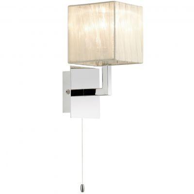 Светильник Odeon light 2566/1WСовременные<br><br><br>S освещ. до, м2: 2<br>Крепление: настенное<br>Тип лампы: галогенная / LED-светодиодная<br>Тип цоколя: G9<br>Количество ламп: 1<br>Ширина, мм: 110<br>MAX мощность ламп, Вт: 40<br>Расстояние от стены, мм: 160<br>Высота, мм: 200<br>Оттенок (цвет): белый<br>Цвет арматуры: серебристый