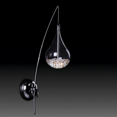 Светильник Odeon light 2568/1WХай-тек<br><br><br>S освещ. до, м2: 2<br>Крепление: настенное<br>Тип лампы: галогенная / LED-светодиодная<br>Тип цоколя: G4<br>Количество ламп: 1<br>Ширина, мм: 120<br>MAX мощность ламп, Вт: 35<br>Расстояние от стены, мм: 240<br>Высота, мм: 500<br>Оттенок (цвет): белый<br>Цвет арматуры: серебристый