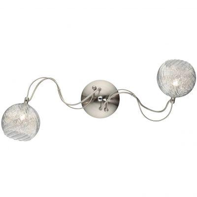 Светильник Odeon light 2569/2WХай-тек<br><br><br>S освещ. до, м2: 6<br>Крепление: настенное<br>Тип лампы: галогенная / LED-светодиодная<br>Тип цоколя: G9<br>Количество ламп: 2<br>Ширина, мм: 580<br>MAX мощность ламп, Вт: 40<br>Высота, мм: 230<br>Оттенок (цвет): белый<br>Цвет арматуры: серый