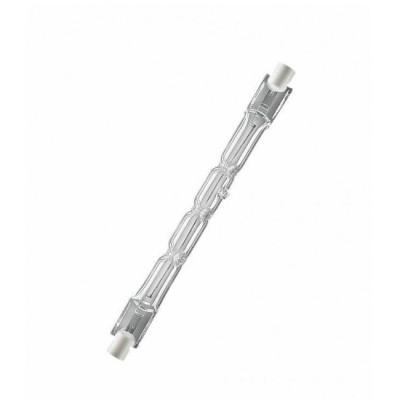 Лампа галогенная Osram 64760 HaloLine 1500W 230V R7s 250.7 mmЛинейные r7s<br>Лампы HALOLINE®, двухцокольные, рабочее положение любое, цветовая температура ок. 3000 KЛампы OSRAM HALOLINE® являются идеальными источниками света для внутреннего и наружного экспозиционного освещения.- простая эксплуатация от сетевого напряжения без трансформатора- повышенная ударопрочность благодаря применению инновационных горелок в лампах мощностью от 60Вт до 150Вт- срок службы 2000 часов- рабочее положение ламп до 500Вт — любое, рабочее положение ламп gt; 750ВТ — р 15- возможность использования в системах освещения со светорегуляторами- цветовая температура ок. 3000К1. При использовании галогенных ламп заливающего света в системах внутреннего и наружного экспозиционного освещения для них должны предусматриваться закрытые светильники. (Положение МЭК 60598, EN 60598).2. Рекомендуется применять предохранители с указанными параметрами (согласно МЭК 60357, EN 60357):• 64688, 64690, 64695, 64696, 64698, 64701 - 2 A• 64702 - 4 A Классификация:<br><br> W15 lm90 d60 l105 E27 W25 lm220 d60 l105 E27 W40 lm420 d60 l105 E27 W60 lm720 d60 l105 E27 W75 lm940 d60 l105 E27 W100 lm1360 d60 l105 E27 W150 lm2200 d65 l123 E27 W200 lm3100 d80 l156 E27<br><br>Сокращения: W-мощность в вт, lm-световой поток в люменах, d-диаметр в mm, l-длина в мм, E27,E14...-цоколи (стандартный,миньон...)<br><br>Тип лампы: галогенная<br>Тип цоколя: R7s<br>MAX мощность ламп, Вт: 1500<br>Длина, мм: 250,7<br>Оттенок (цвет): для сетевого напрежения