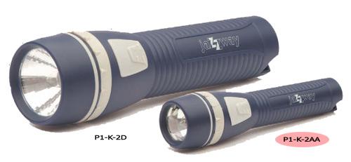 Фонарь на батарейках jaZZway P1-K-2AA BL-1 синийРучные<br>Cерия CLASSIC (классик):<br> - АБС-пластик - супер яркая криптоновая лампа +70% - граненый рефлектор для лучшей фокусировки<br><br>Тип лампы: криптоновая лампа<br>Диаметр, мм мм: 40<br>Высота, мм: 152