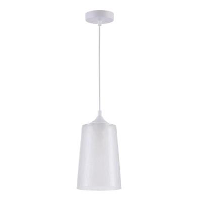Подвесной светильник Maytoni P530PL-01W Walter Pendantодиночные подвесные светильники<br><br><br>Тип лампы: Накаливания / энергосбережения / светодиодная<br>Тип цоколя: E27<br>Цвет арматуры: Белый<br>Количество ламп: 1<br>Диаметр, мм мм: 150<br>Высота полная, мм: 1475<br>Высота, мм: 240<br>Поверхность арматуры: матовая<br>Оттенок (цвет): Белый<br>MAX мощность ламп, Вт: 60