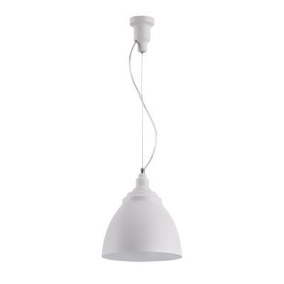 Подвесной светильник Maytoni P534PL-01W Bellevue Pendantодиночные подвесные светильники<br><br><br>Тип лампы: Накаливания / энергосбережения / светодиодная<br>Тип цоколя: E27<br>Цвет арматуры: Белый<br>Количество ламп: 1<br>Диаметр, мм мм: 250<br>Высота полная, мм: 1760<br>Высота, мм: 260<br>Поверхность арматуры: матовая<br>Оттенок (цвет): Белый<br>MAX мощность ламп, Вт: 60