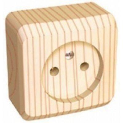 Lexel Этюд розетка без заземления без шторок (накладные) (PA16-001d)Дача<br><br>