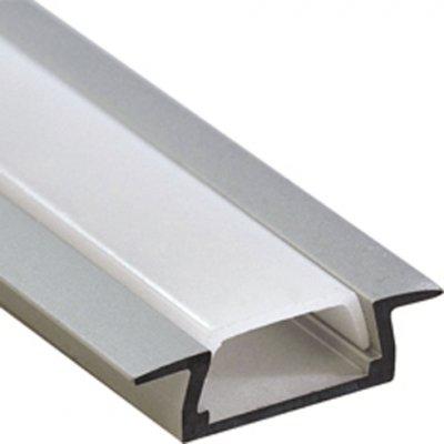 Встраиваемый профиль для светодиодной ленты PAL 2206 (2м) анодированный JazzwayВстраиваемый профиль<br><br>